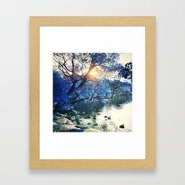 Hope in blue Framed Art Print