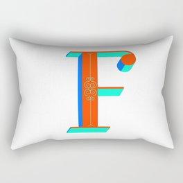 Letter F Rectangular Pillow