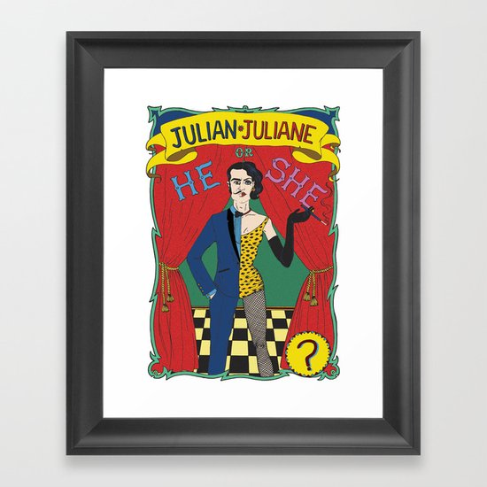 Julian/Julianne Framed Art Print