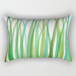 Green Grasses Rectangular Pillow