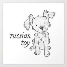 Dog Breeds: Russian Short Haired Terrier Art Print