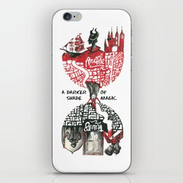 Red & Black London from A Darker Shade Of Magic iPhone Skin