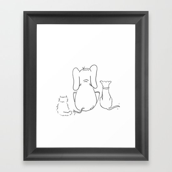 Cat, elephant, and dog friendship trio by melindatodd