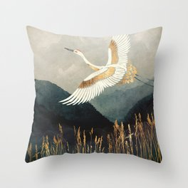Elegant Flight Throw Pillow