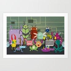 Computer bugs Art Print