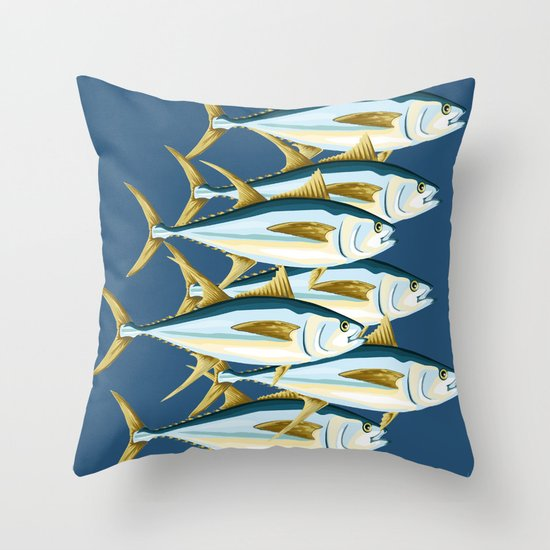 School of Tuna, fish Throw Pillow