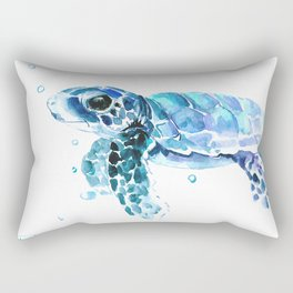 Sea Turtle Tortoiseblue turtle cartoon children art Rectangular Pillow