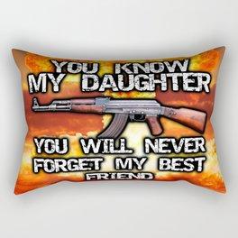 my daughter Rectangular Pillow