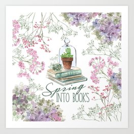 Spring Into Books Art Print