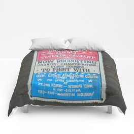 Seventh Cavalry Recruiting Sign Comforters