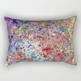 Barong - Abstract Bohemian Batik Camouflage Tie-Dye Style Art Rectangular Pillow