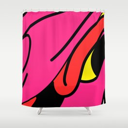 Colorful dragon, among the restless and amused. Shower Curtain