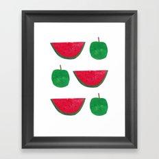 Watermelon & Apple Framed Art Print