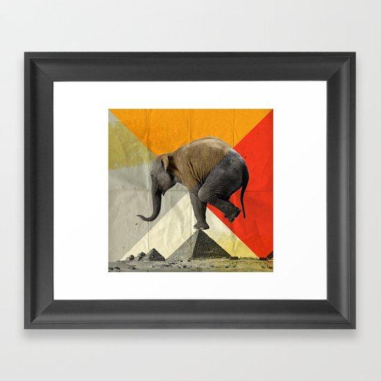 Balance of the pyramids Framed Art Print