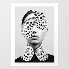Woman Butterfly Art Print