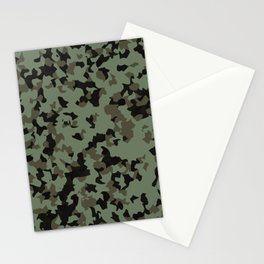 Swamp Camouflage Pattern Stationery Cards
