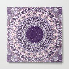 Lace on Lavender Metal Print