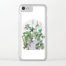 greenhouse illustration Clear iPhone Case