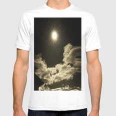 Signs in the Sky Collection - I White MEDIUM Mens Fitted Tee