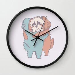 Shih Tzu Hugs Wall Clock