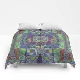 Geometric Futuristic Quilt 2: Calm Surrender Comforters