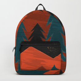 Camping Under a Harvest Moon Backpack