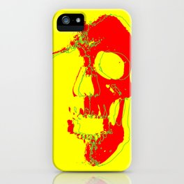 Skull - Red iPhone Case