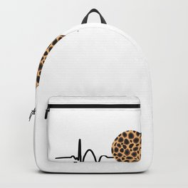 Cheetah Leopard Heart With Heart Rate Backpack