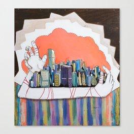 Through a Pin hole.  Canvas Print