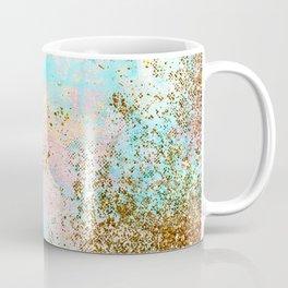Pink and Gold Mermaid Sea Foam Glitter Coffee Mug