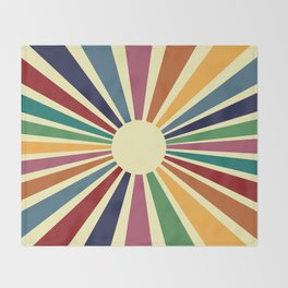 Sun Retro Art II Throw Blanket