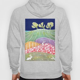 Rabbits on the meadow Hoody