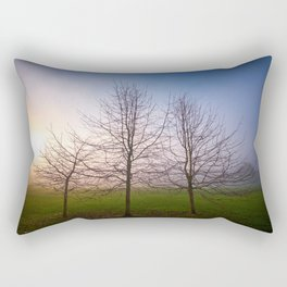 Foggy Morning at Green Lake (Seattle, WA) Rectangular Pillow