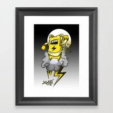 StormBot - yellow robot Framed Art Print
