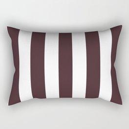 Temptress purple - solid color - white vertical lines pattern Rectangular Pillow