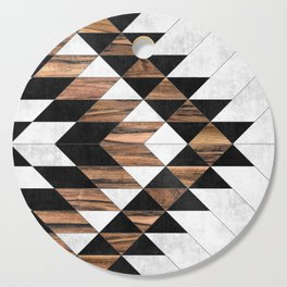 Urban Tribal Pattern No.9 - Aztec - Concrete and Wood Cutting Board