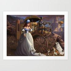 Steampunk Cinderella Art Print