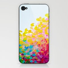 CREATION IN COLOR - Vibrant Bright Bold Colorful Abstract Painting Cheerful Fun Ocean Autumn Waves iPhone & iPod Skin