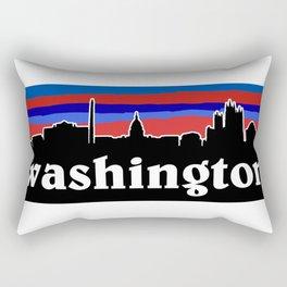 Washington Cityscape Rectangular Pillow