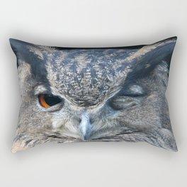 Eagle owl Rectangular Pillow