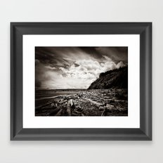 Lonely Stretch Framed Art Print