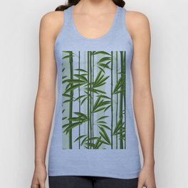 Green bamboo tree shoots pattern Unisex Tank Top