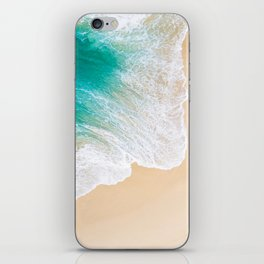 Sand Beach - Waves - Drone View Photography iPhone Skin