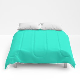 Aqua Gift Box Solid Summer Party Color Comforters