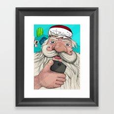 #santa#selfie Framed Art Print