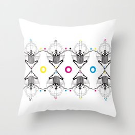 Jugglers Throw Pillow