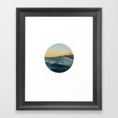 Landscape round Framed Art Print