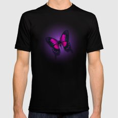 Butterfly Beauty 2X-LARGE Black Mens Fitted Tee