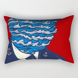 Captain of the Salty Waves Rectangular Pillow