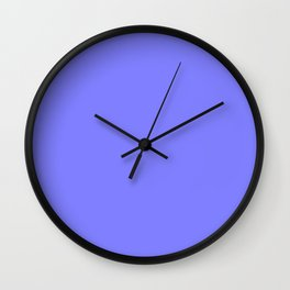 Periwinkle Solid Color Wall Clock